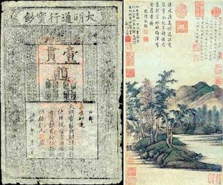 Dalam Sejarah Pemakaian Kertas Sebagai Bahan Uang Cina Dianggap Sebagai Bangsa Yang Pertama Menemukannya Yaitu Sekitar Abad Pertama Masehi Pada Masa